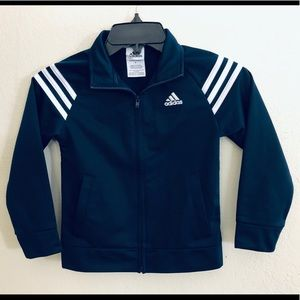 Adidas boys navy blue jacket size 5
